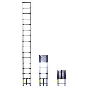 15 ft Aluminum Pro-Series Telescoping Extension Ladder with 250 lb. Load Capacity
