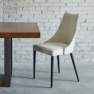 saramarie solid back upholstered dining chair set of 2