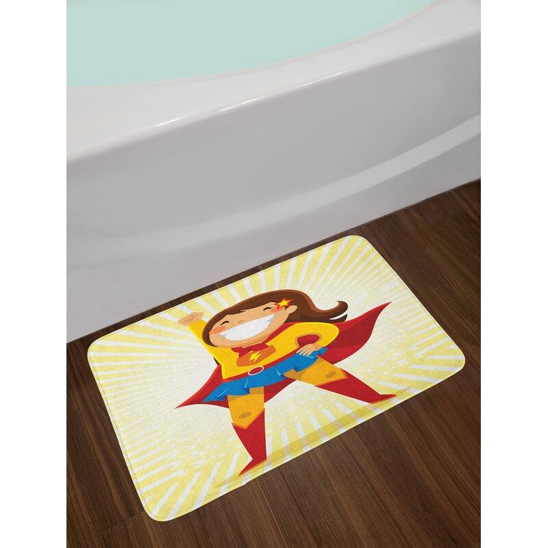 East Urban Home Superhero Bath Rug Wayfair