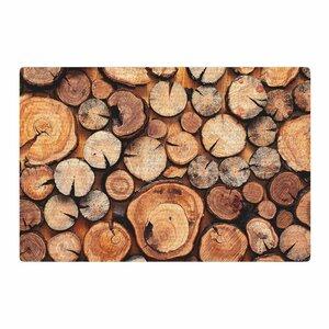 Susan Sanders Rustic Wood Logs Brown/Tan Area Rug