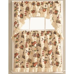 Bouzy Fruit Orchard Kitchen Curtain Set (Set of 3)