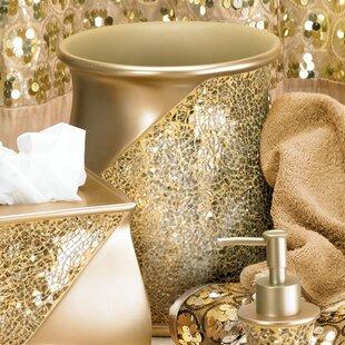 Rivet Champagne Gold Toothbrush Holder