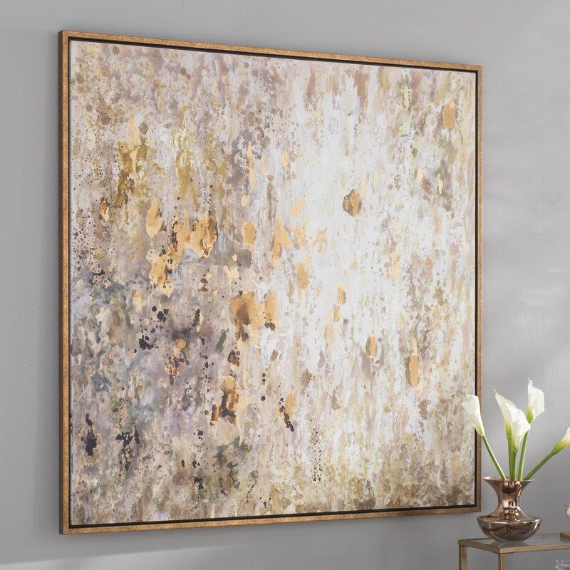 Willa Arlo Interiors Raindrops Modern Abstract Framed