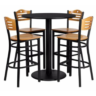 Hardesty Round Laminate 5 Piece Pub Table Set
