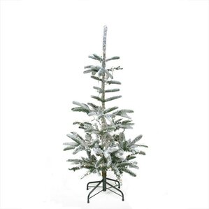 pre lit noble 45 green fir artificial flocked christmas tree with 75 warm clear - 75 White Christmas Tree