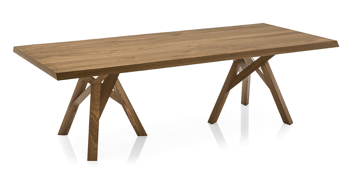 Exceptionnel Calligaris Jungle   Table   Walnut Ash Veneer Top   Walnut Ash Wood Frame  And Legs | Wayfair