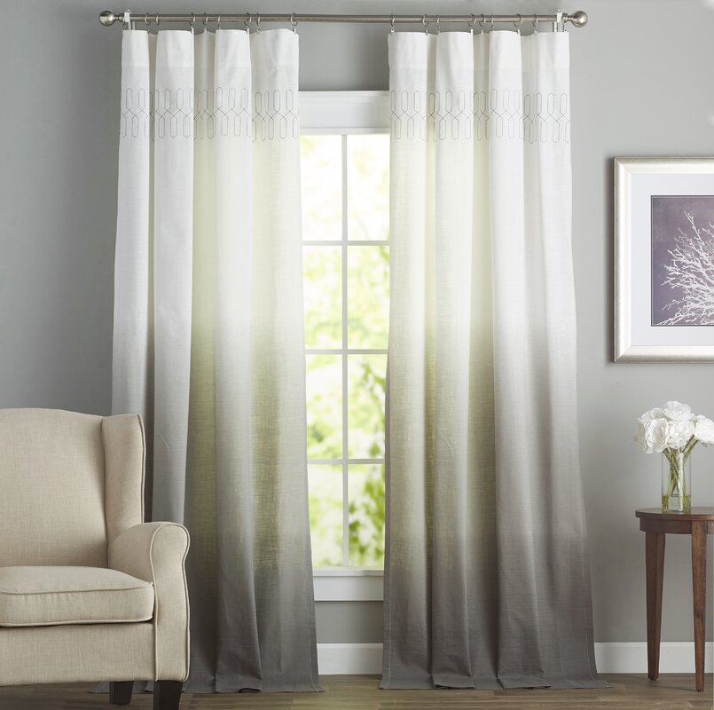 Arashi Solid Room Darkening Rod Pocket Single Curtain