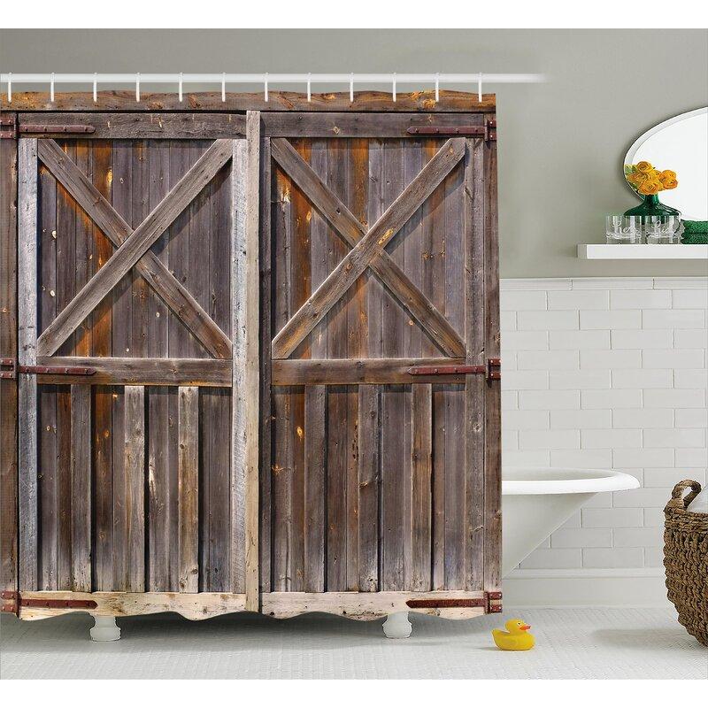 Elegant Asuka Old Wooden Warehouse Shower Curtain