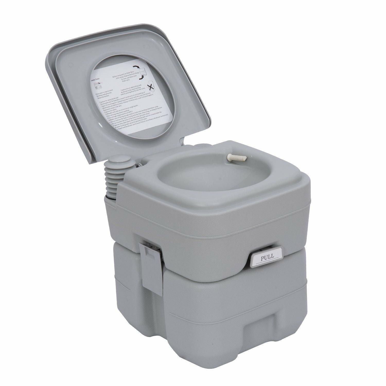 Homcom Portable Travel Mobile Camping Handle Toilet | Wayfair.co.uk