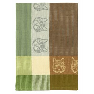 Cat Face 100% Hand-Woven Cotton Dishcloth (Set of 6)