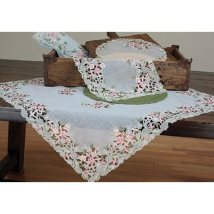 Fairy Garden Sheer Embroidered Cutwork Spring Tablecloth
