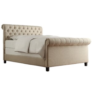 melyna upholstered sleigh bed