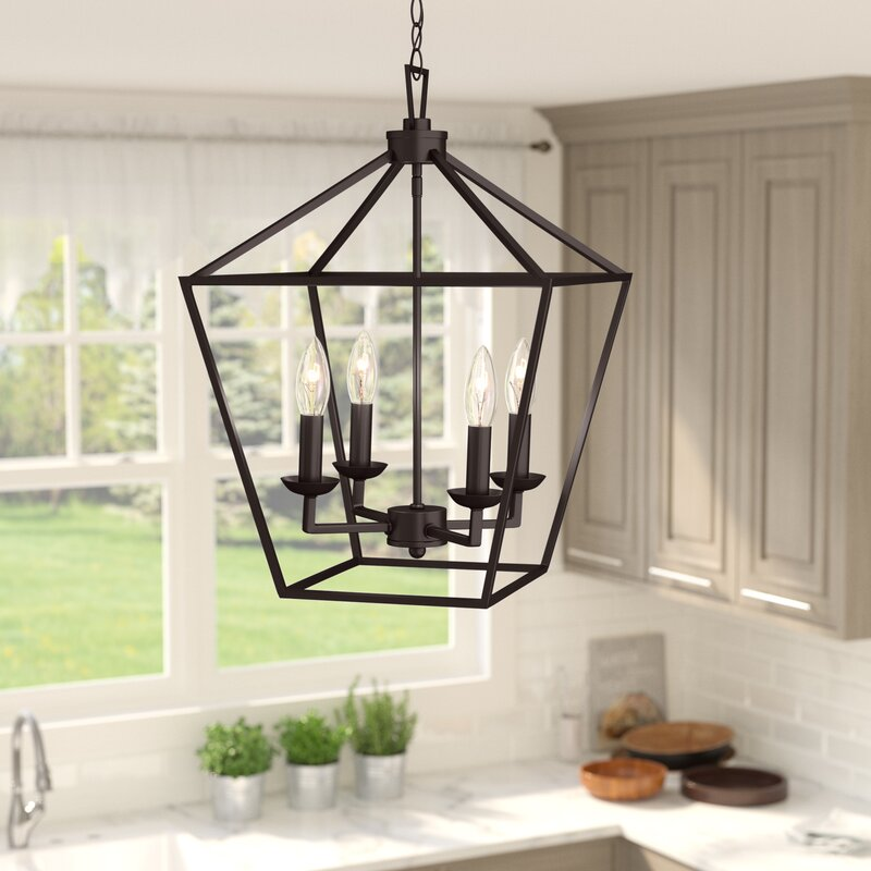 4 light pendant blakely carmen 4light lantern pendant laurel foundry modern farmhouse