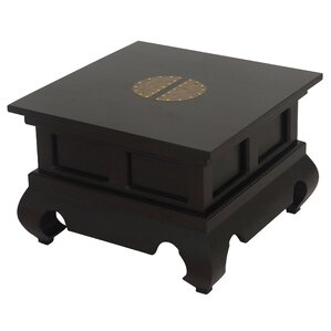 Ming Fine Handcrafted Solid Mahogany Wood End Table by NES Furniture