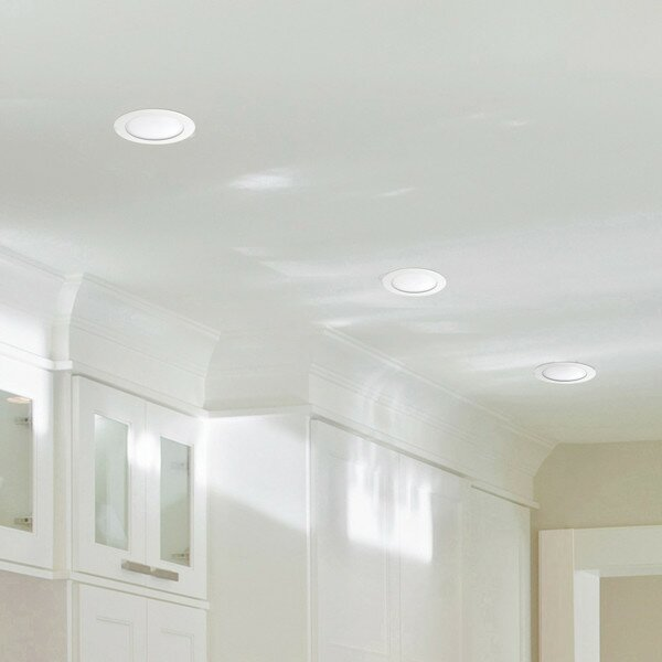 Recessed Lighting White Ultra Slim Profile Recessed Lighting Kit