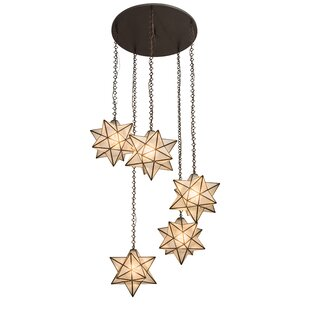 Moravian star pendant wayfair moravian star 5 light cascade pendant aloadofball Image collections