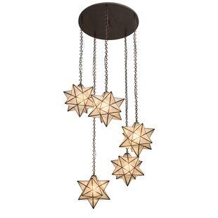 Moravian Star 5 Light Pendant