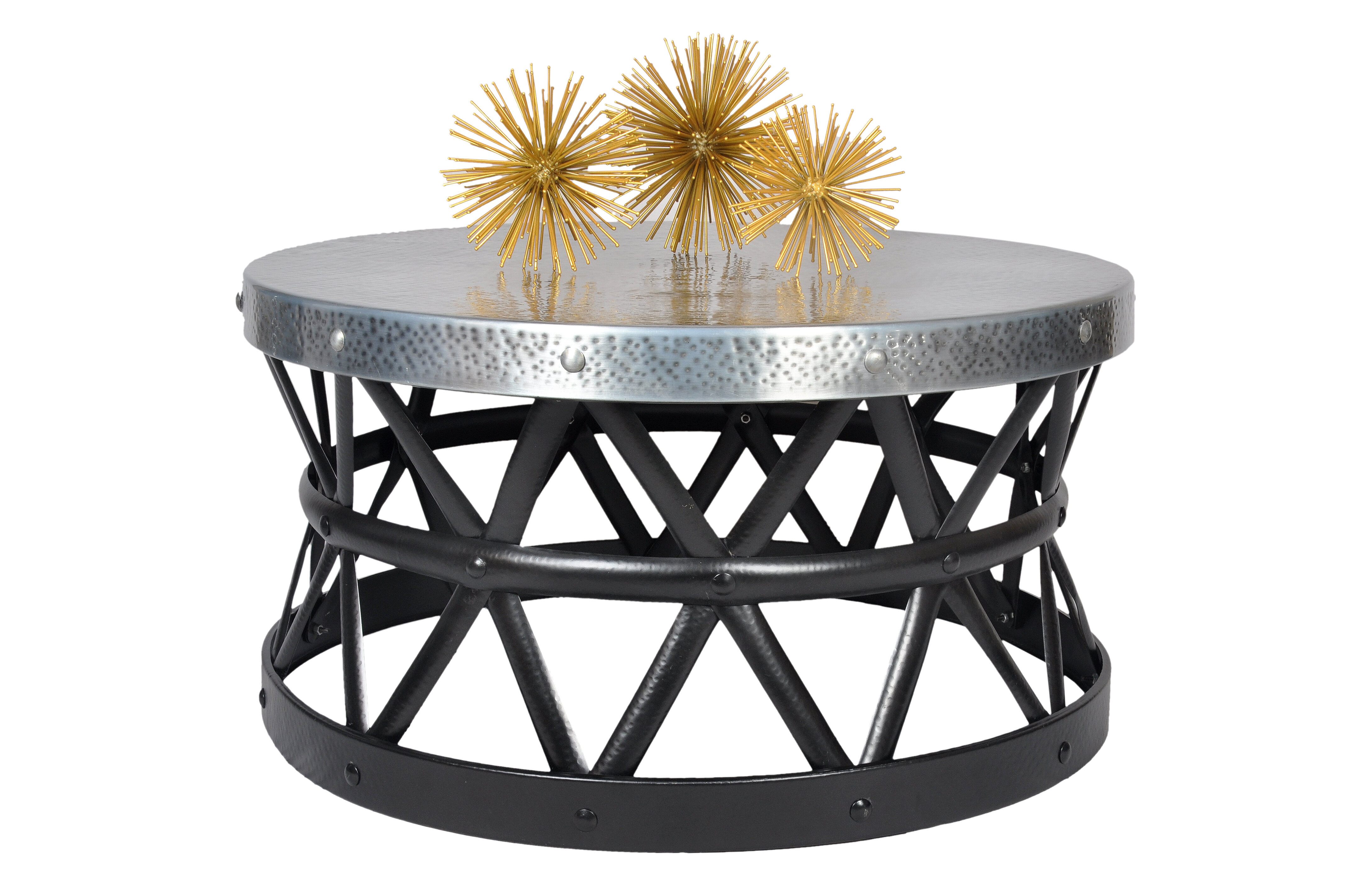Fashion N You Drum Hammered Coffee Table & Reviews