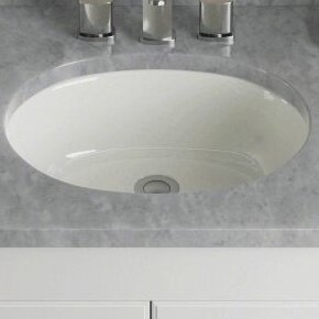 Undermount Bathroom Sink Oval ronbow oval undermount bathroom sink with overflow & reviews | wayfair