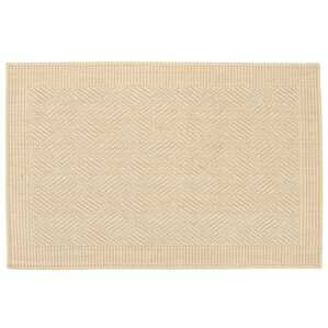 Jute Jacquard Diamond Natural Serged Low Indoor/Outdoor Area Rug