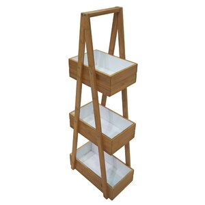 Bamboo and MDF Free Standing Shower Caddy