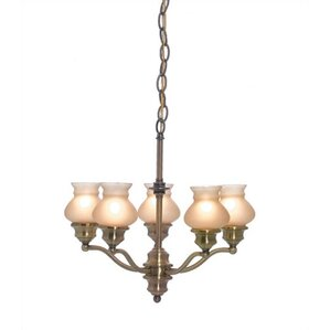 Exceptional Shivani 5 Light Shaded Chandelier