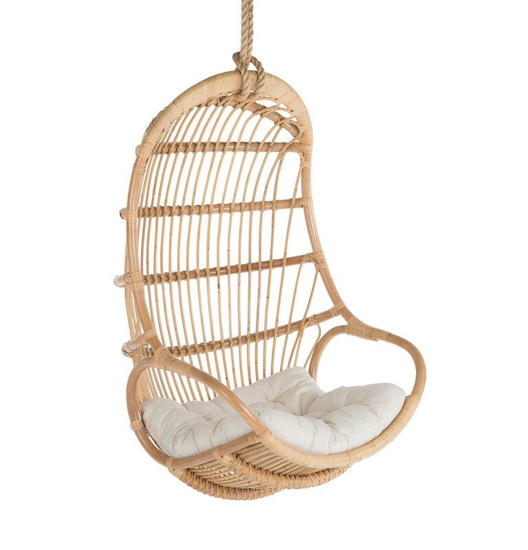 Greyleigh Briaroaks Hanging Rattan Swing Chair & Reviews ...