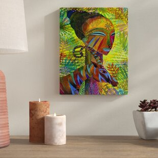 African Queens Painting Print On Wred Canvas