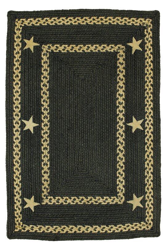 homespice decor texas star jute braided black area rug & reviews