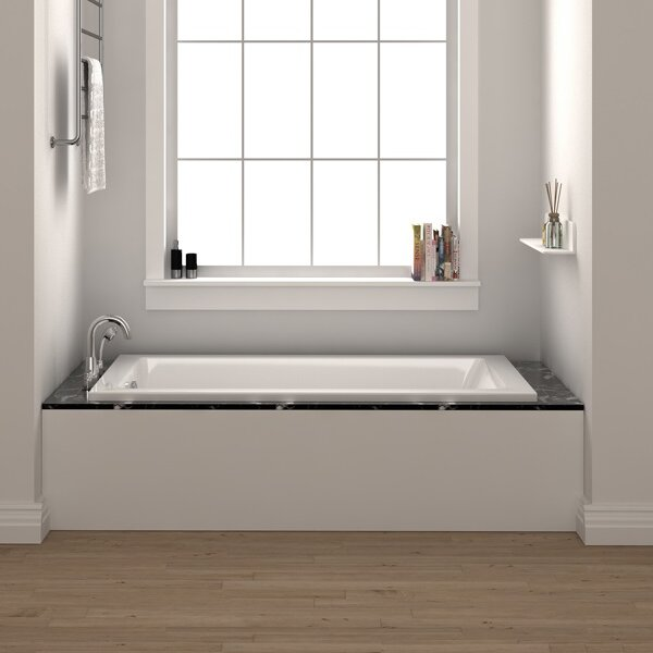 "fine fixtures drop in 54"" x 30"" soaking bathtub & reviews 