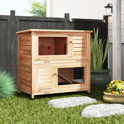 2 Story Small Animal Hutch Archie & Oscar Color: Natural