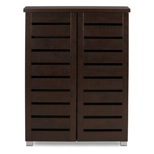Baxton Studio Adalwin 15-Pair Shoe Storage Cabinet