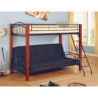Wildon Home Elk City Twin over Full Futon Bunk Bed Wayfair