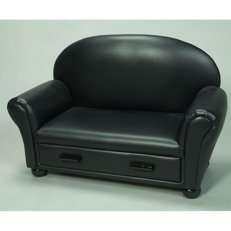 Gift Mark Upholstered Chaise Lounge Kids Faux Leather Club