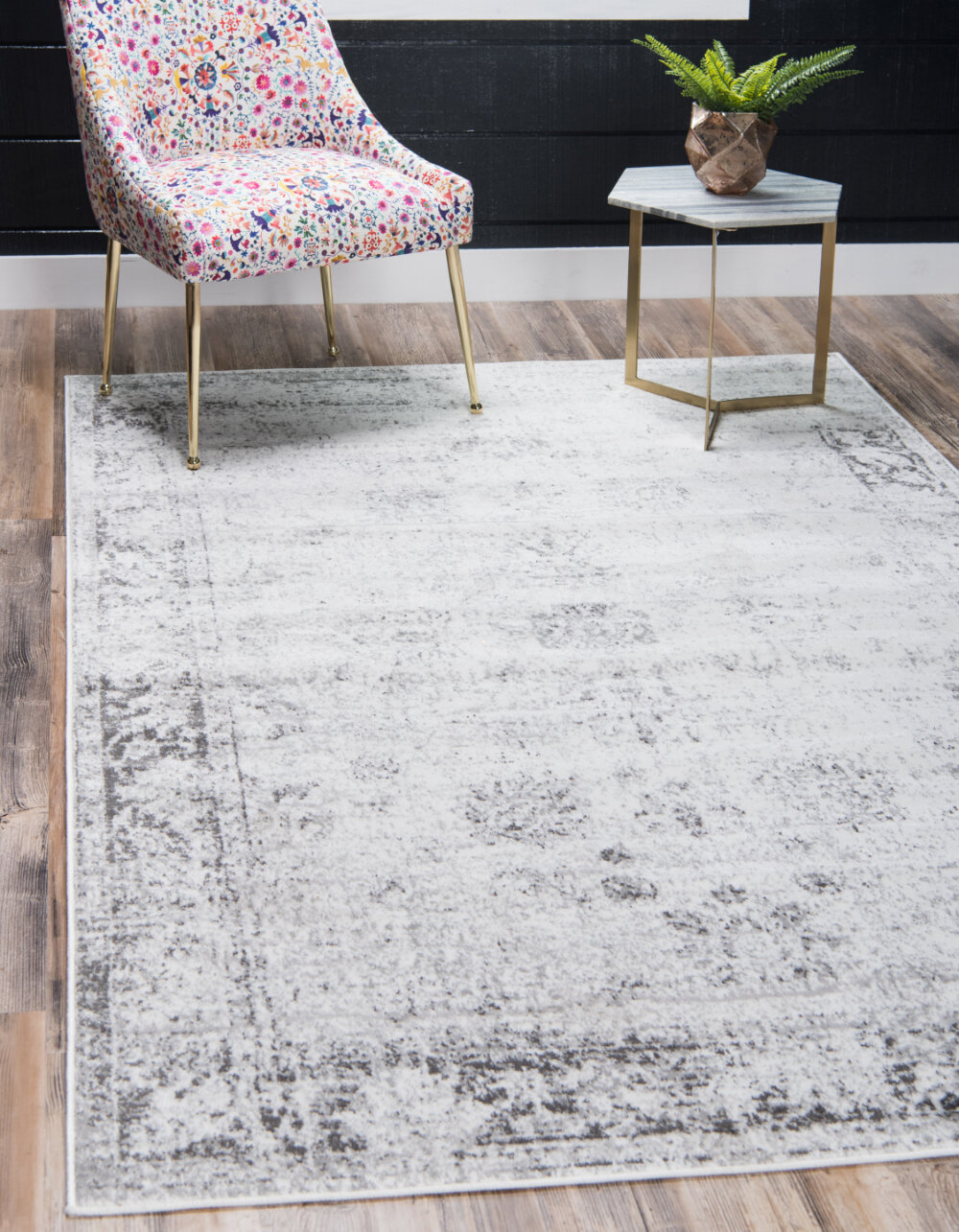 Brandt light grey area rug