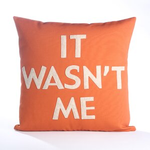 House Rules It Wasn't Me Throw Pillow
