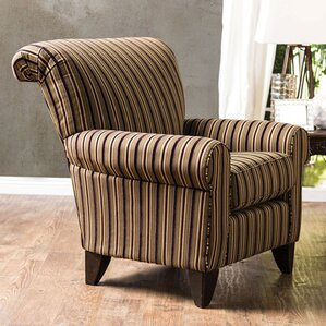 Dahlen Contemporary Stripes Wingback Chair