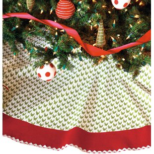 North Pole Bright Tree Skirt In Green Red