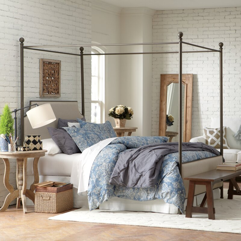 Canopy Beds williston upholstered canopy bed & reviews | birch lane