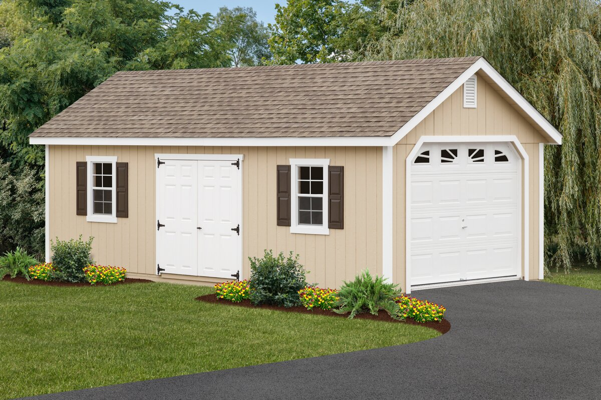 D Wooden Garage Shed