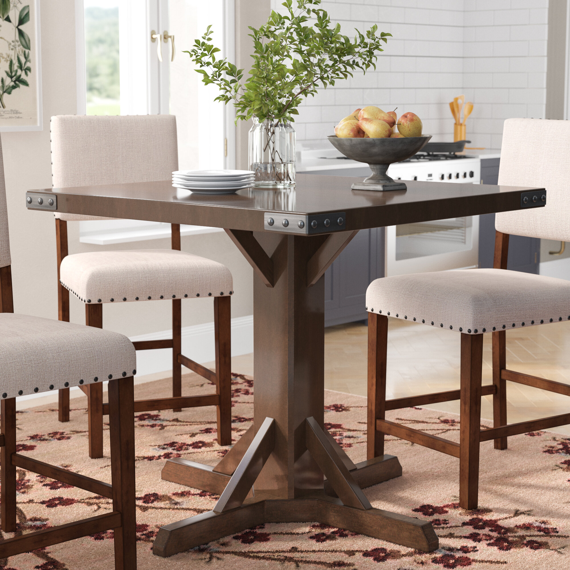 signature alcove product dining kitchen furniture counter item table american merlot height tables room