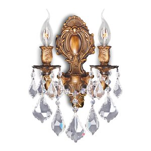 Dodson Traditional 2-Light Crystal Wall Sconce