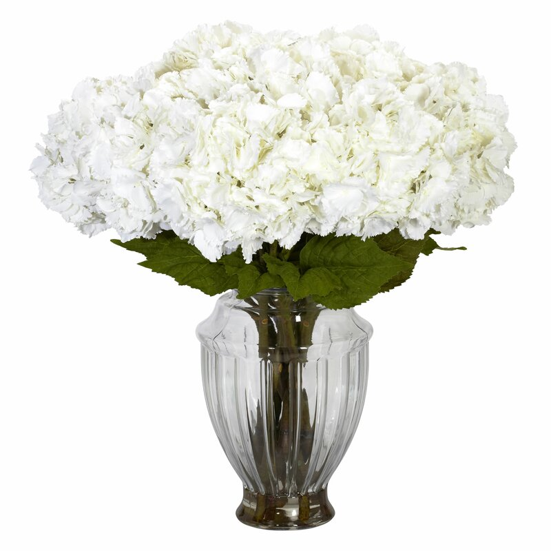 Nearly Natural Hydrangea Centerpiece In Decorative Vase Reviews