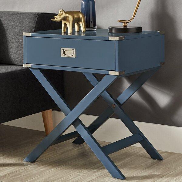 Mercury Row Marotta 1 Drawer End Table Amp Reviews Wayfair