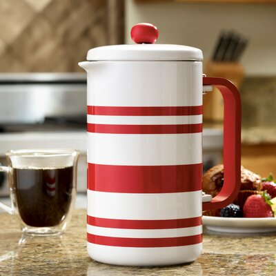 BonJour 8-Cup French Press Coffee Maker BonJour Color: Red Stripes