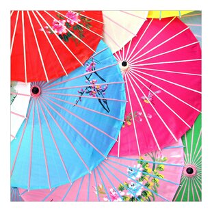 Chinese Parasols Semi-Gloss Wallpaper Roll by East Urban Home