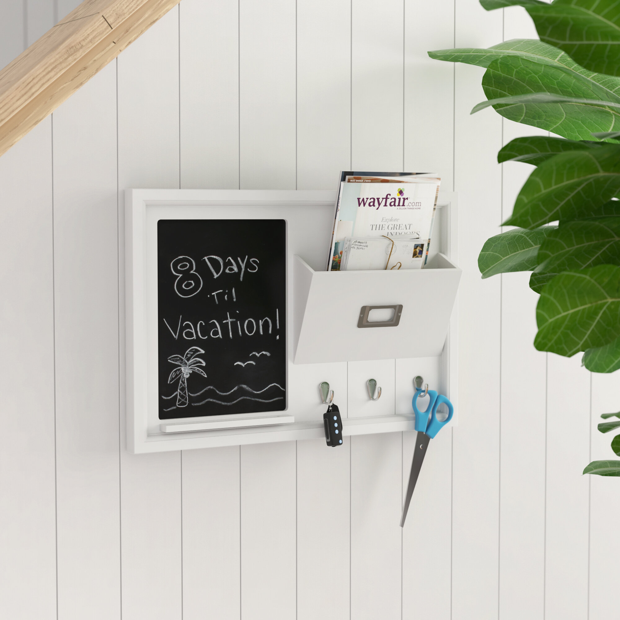 Rebrilliant organization wall mounted chalkboard reviews wayfair jeuxipadfo Gallery