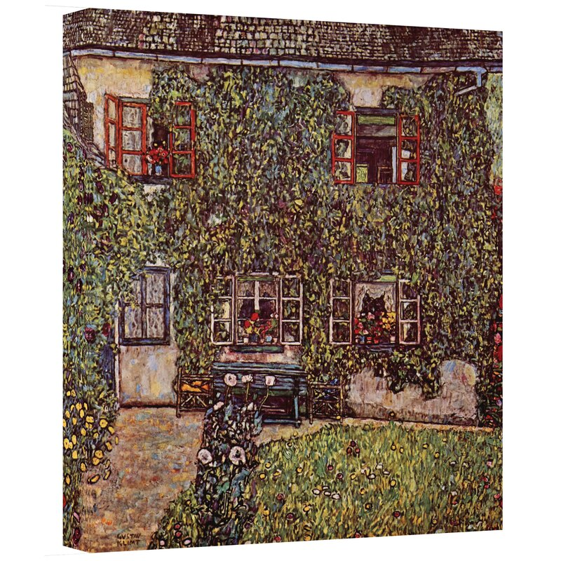'House of Guardaboschi' by Gustav Klimt Painting Print on Canvas