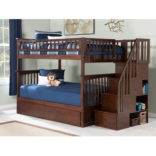 0bc4b6e25b87a Abel Staircase Full Over Full Standard Bed with Trundle