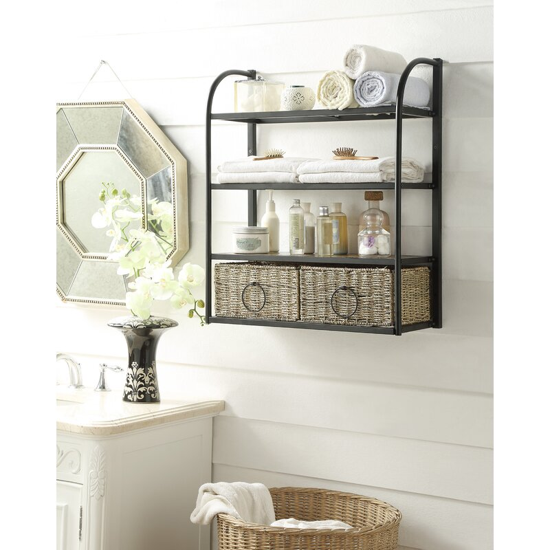awesome kids bathroom storage ideas | Laurel Foundry Modern Farmhouse Kiowa Hanging Storage Rack ...